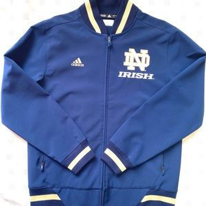 Very Nice Adidas Notre Dame Jacket Small
